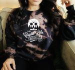 Camp Crystal Lake   Black Tie Dye   Friday the 13th   Halloween Sweater   Bleached Sweater   Halloween Costume