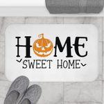 Halloween Doormat, Home Sweet Home, Pumpkin Doormat, Halloween Decor