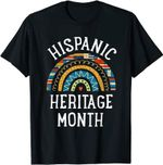 Hispanic Heritage Month Rainbow Gifts Latin Country Flags T-Shirt