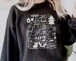 Christmas Sweatshirt, Little Things Favorites Doodles Sweatshirt, Santa Xmas Tree Sweatshirt, Cute Holiday Gift