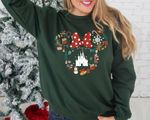 Dis.ney Christmas Sweatshirt, Mic.key Min.nie Head Sweater, Disney Holiday Sweatshirt, Dis.ney Castle, Gift For Christmas
