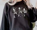 Dancing Christmas Skeleton Sweatshirt, Christmas Skeletons, Spooky Christmas Sweatshirt