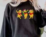 Winnie The Po.oh Sweatshirt, Cute Christmas Dis.ney Sweatshirt, Christmas Holiday Gifts, Po.oh Bear Christmas