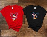 Micke.y & Minn.ie Head Shirt, Christmas Disne.y Couple Sweatshirt, Christmas Gift, Snowmen, Snowflake, Santa Hat