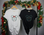 Micke.y & Minn.ie Head Shirt, Christmas Gift, Snowmen, Snowflake, Santa Hat, Reindeer, Disney Castle, Christmas Disn.ey Couple Shirt
