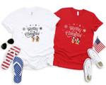 Mic.key & Min.nie Shirt, Christmas Gift, Snowmen, Snowflake, Santa Hat, Reindeer, Dis.ney Castle, Christmas Dis.ney Couple Shirt