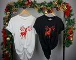 Deer Antler Christmas Shirt, Merry Christmas Shirt, Christmas Tee, Holiday T-Shirt, Gift for Her, Gift for Him