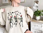 Skele.ton Dancing Christmas Crewneck Sweatshirt | Family Christmas Sweater | Holiday Christmas Sweatshirt | Skele.ton Funny Sweatshirt