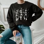 Christmas Ske.leton Sweatshirt, Skele.ton Dancing Christmas Sweatshirt