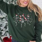 Skel.eton Dancing Christmas Sweatshirt, Christmas Sweatshirt