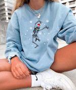 Dancing Ske.leto.n Sweatshirt, Christmas Sweatshirt, Holiday Sweatshirt, Gift For Christmas