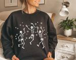 Christmas Skele.ton Sweatshirt, Skelet.on Dancing Christmas Sweatshirt , Funny Ugly Christmas Sweater