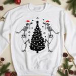 Funny Christmas Skele.ton Sweatshirt, Best Gift Shirt for Christmas Holiday