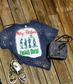 Haunted Mansion Shirt, Haunted Mansion Christmas Bleached Shirt 04