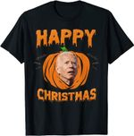Happy Biden Pumpkin Christmas Halloween Costume T-Shirt