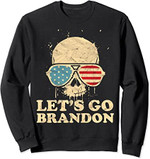 Let's Go Brandon , skull american flag Sweatshirt