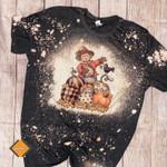 Thankful Bleached Shirt, Thanksgiving shirt, Fall Holiday Autumn, Turkey Day
