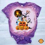 Blu.eys Halloween Bleached Shirt, Halloween Shirt, Trick Or Treat , Pumpkin Halloween