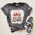 Happy Fall Y'All Gnomes, Gnomies With Pumpkin, It's Fall Y'All, Autumn Lover Bleached Shirt