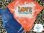 Love Thanksgiving Fall Distressed Bleached Shirt | Pumpkin Spice l Thanksgiving Bleached Tee