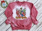 Squ.ad Go.als Christmas Movie Characters Bleached Sweatshirt| Elf Home Alone Grin.ch