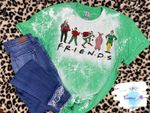 Friends Christmas Movies Bleached Shirt    Elf Christmas Story Home Alone Grin.ch Shirt