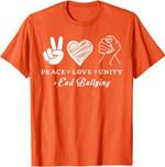 Peace Love Unity Day Orange Kids 2021 Anti Bullying T-Shirt