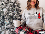 Merry and Bright Sweater, Women's Christmas Sweatshirt, Cute Christmas Sweater