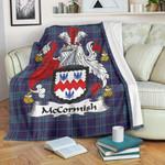 McCorMish Tartan Clan Badge Premium Blanket