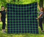 Scottish Abercrombie Clan Tartan Quilt Original - TH8