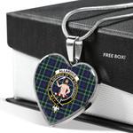 Scottish Allardice Clan Badge Tartan Necklace Heart Style