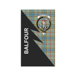 Scottish Balfour Clan Badge Tartan Garden Flag Flash Style - BN