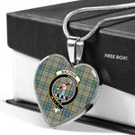 Scottish Balfour Clan Badge Tartan Necklace Heart Style