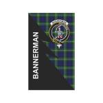 Scottish Bannerman Clan Badge Tartan Garden Flag Flash Style - BN