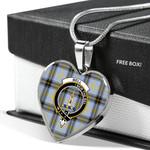 Scottish Bell Clan Badge Tartan Necklace Heart Style