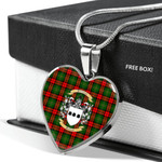 Scottish Blackstock Clan Badge Tartan Necklace Heart Style