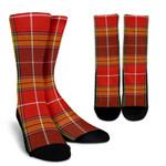 Scottish Buchanan Old Set Weathered Clan Tartan Socks - BN