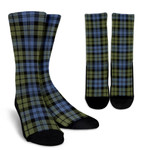 Scottish Campbell Faded Clan Tartan Socks - BN