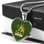 Scottish Copeland Clan Badge Tartan Necklace Heart Style