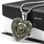 Scottish Craig Clan Badge Tartan Necklace Heart Style