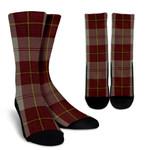 Scottish Cunningham Burgundy Dancers Clan Tartan Socks - BN