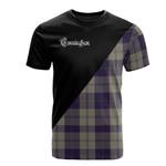 Scottish Cunningham Dress Blue Dancers Clan Badge T-Shirt Military - K23