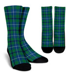 Scottish Douglas Ancient Clan Tartan Socks - BN
