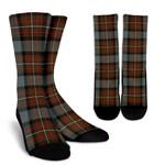 Scottish Fergusson Weathered Clan Tartan Socks - BN