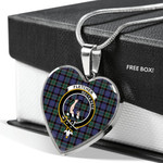 Scottish Fletcher Modern Clan Badge Tartan Necklace Heart Style