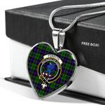 Scottish Forsyth Modern Clan Badge Tartan Necklace Heart Style
