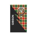 Scottish Gibson Clan Badge Tartan Garden Flag Flash Style - BN