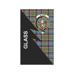 Scottish Glass Clan Badge Tartan Garden Flag Flash Style - BN