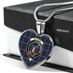 Scottish Guthrie Modern Clan Badge Tartan Necklace Heart Style