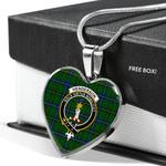 Scottish Henderson Modern Clan Badge Tartan Necklace Heart Style